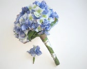Blue/Green Hydrangea Wedding Bouquet