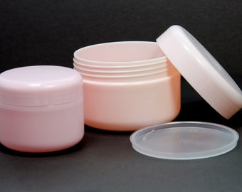 Empty Cosmetic Jar Containers Cream Lotion Bottle Pink 50 / 100 ml