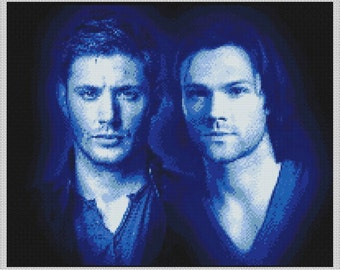 Supernatural Sam and Dean Winchester Portrait Cross-Stitch Chart