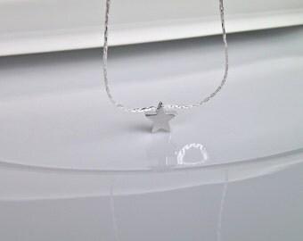 Star Necklace, Silver Star Necklace, Silver Necklace, Bridesmaid Gifts, Bridesmaid Necklace, Flower Girl Gift, Gifts for Girls, UK Seller