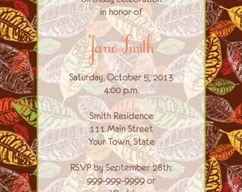 Fall Leaves Invitation