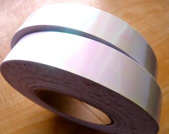 """1"""" White Pearl Metallic Hula Hoop Tape"""