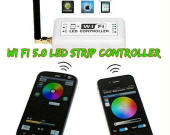 16 ft Battery Powered Octopak Wifi controlled 5050 RGB LED strip light kit.