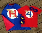 Personalized Superhero Cape, T-Shirt, Mask and Power Cuffs-Ultimate Custom Super Hero Set with Reversible Cape, Mask, T-Shirt and Cuffs