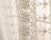 Luxury Ivory Lace Sheer Curtain Panel