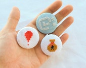 Animal Crossing Pinback Buttons, New Leaf Gamer Gift