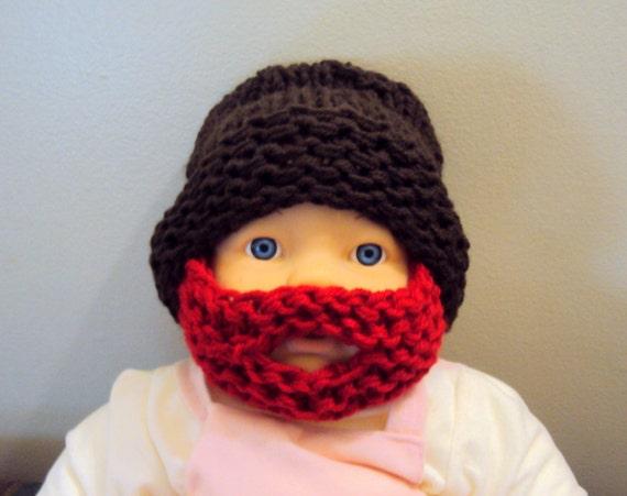 Items Similar Beard Hat Baby Beanie Knit