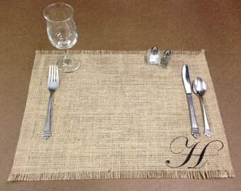 "Burlap Placemats 14"" x 18"" - set of 6 Holiday decorating Home decor Wedding placemat Housewarming gift Wedding gift Bridal Shower"