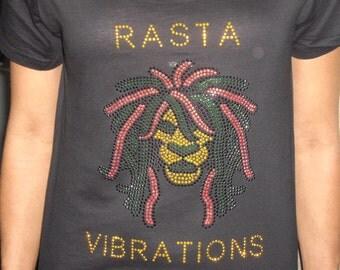 Afrocentric Tee  Shirt Rasta Vibration