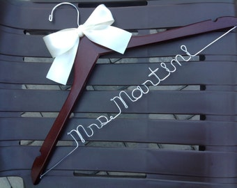 SET of 9 HANGERS/Personalized hangers