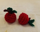 2 Crochet Apple Cat Toys Handmade Free Shipping