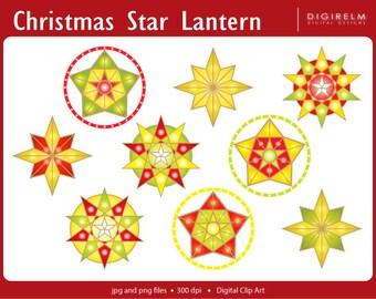 PAROL: A Christmas Star Lantern Clipart - Digital Printable Clip Art