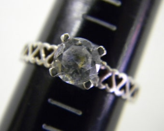 Four Prong Set Fun Ring Sterling Silver 925, RIng is a size 10 #5530