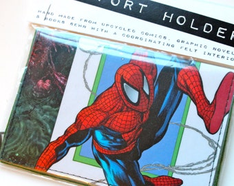 Spiderman Comic Book Passport Cover Assorted Styles