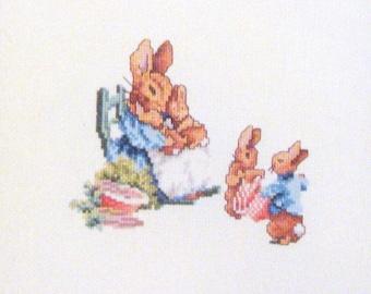 beatrix potter mrs rabbit  flopsy bunnies cross stitch CHART INSTRUCTIONS ONLY lakeland artist new