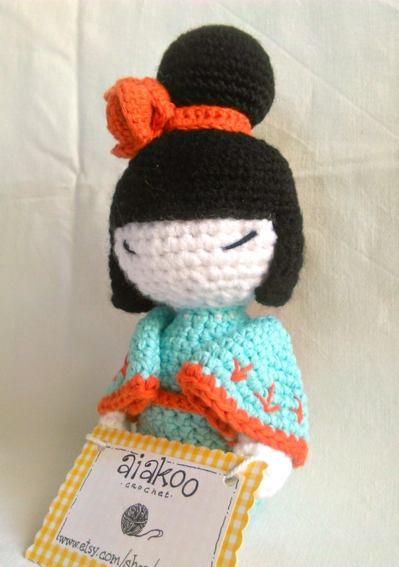 Amigurumi Cotton Yarn : amigurumi crochet kokeshi doll made with organic cotton baby