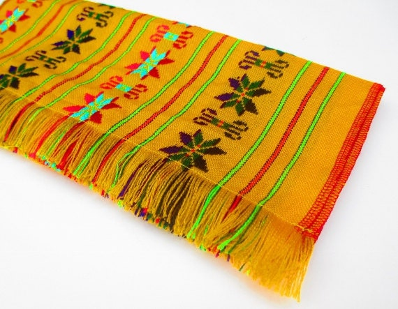 Mexico table runner Mexican embroidered by MexFabricSupplies