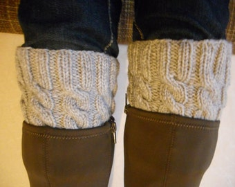 Boot cuffs, cable knit boot cuffs