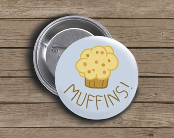 "Muffins! Derpy Hooves / Ditzy Doo - 1.5"" Buttons - My Little Pony: Friendship is Magic"