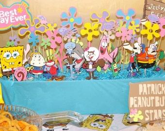 10 piece Spongebob Squarepants centerpiece, Spongebob party, Spongebob and Patrick, Spongebob Birthday