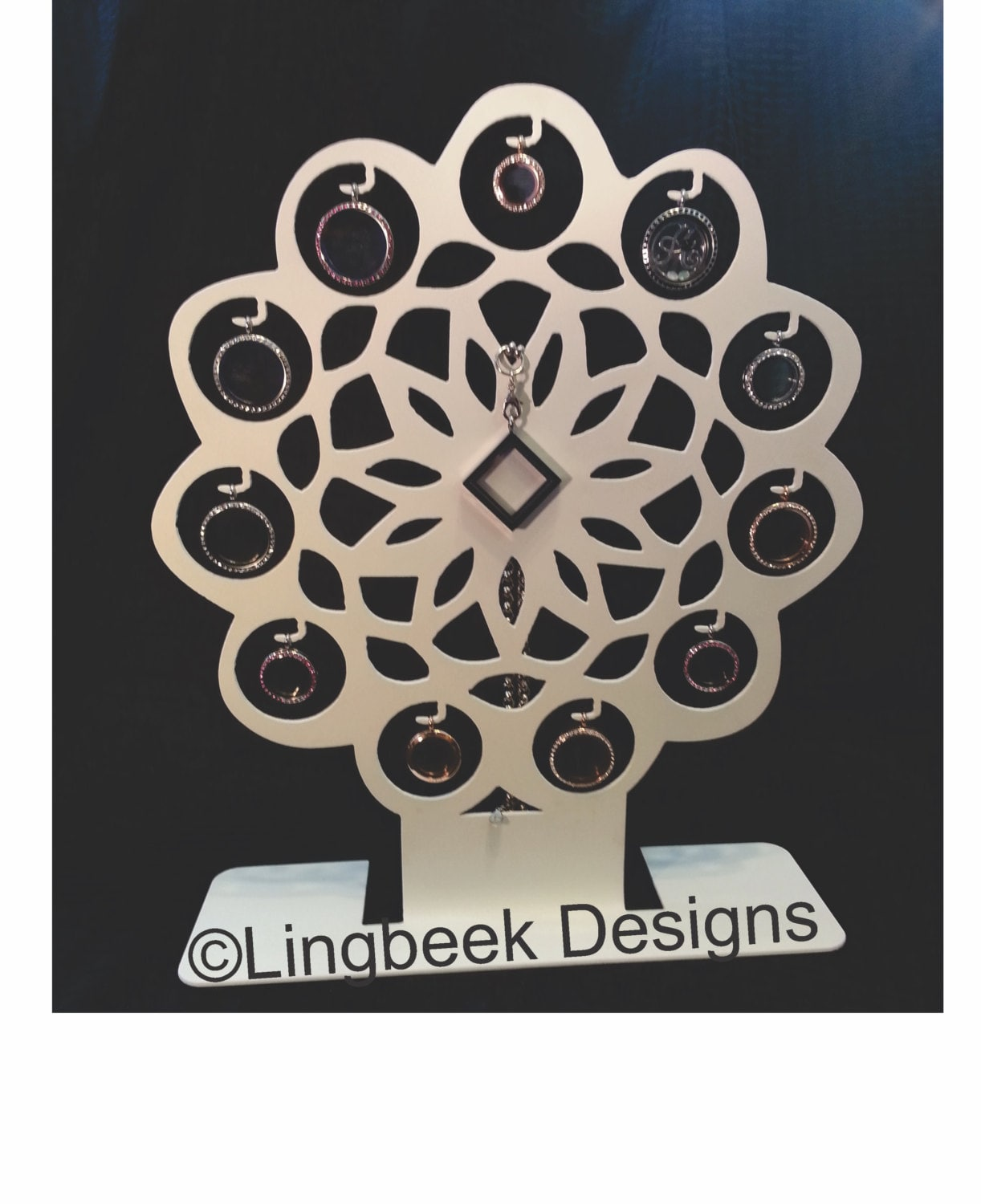 flower locket display perfect for south hill designs