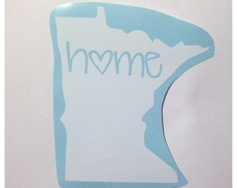 Minnesota or any other state Home State Love Decal - Cute Custom Decal for Car or Tablet Ipad -State Pride - State Love