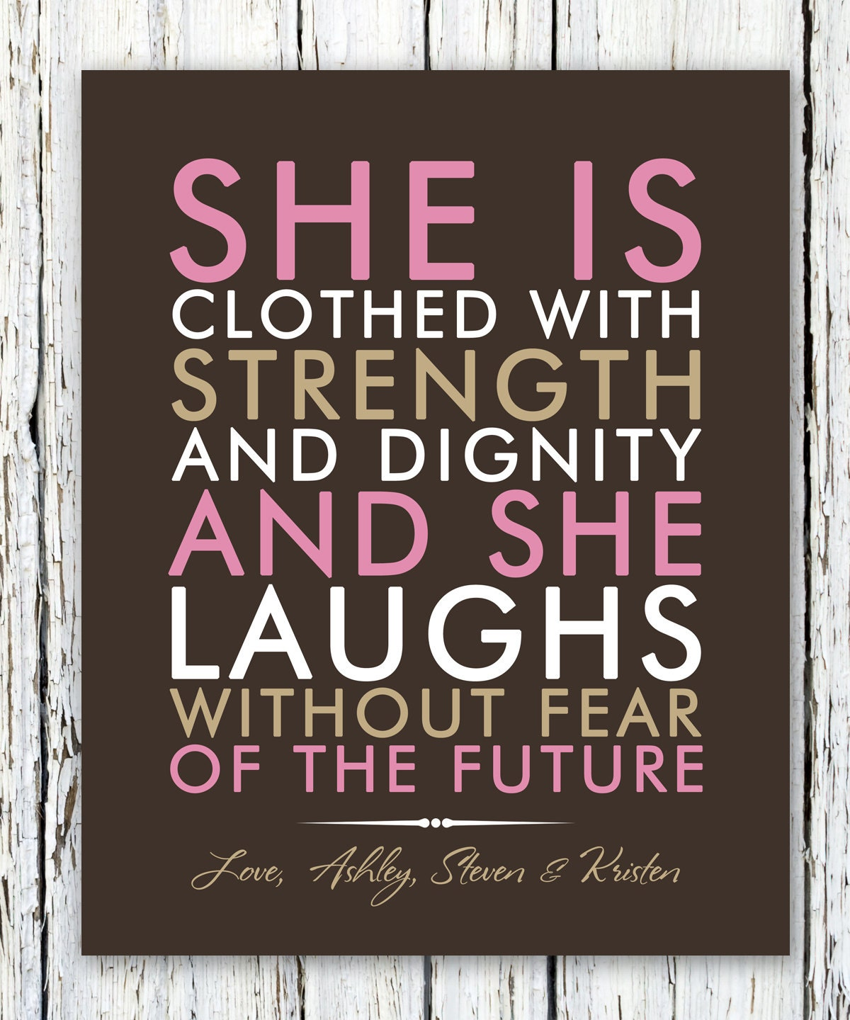 She Is Clothed With Strength And Dignity And She Laughs: She Is Clothed With Strength And Dignity Quote Graduate Gift
