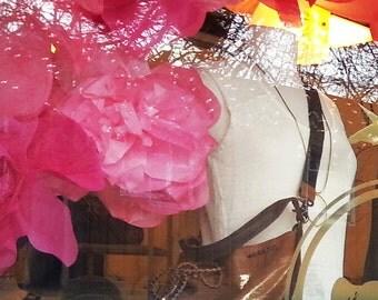 5 Giant Paper Peony flowers - Store window display peonies