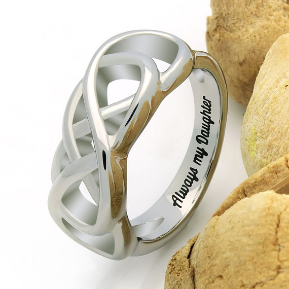 infinity ring promise ring always my by tzaro