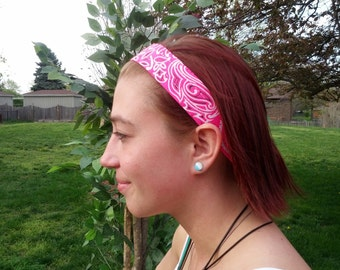 set of 4 Neon Bandana no-slip hairbands!