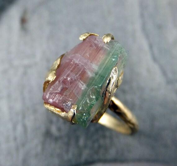 Raw Gemstone Rings Etsy