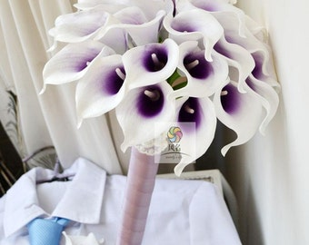 wedding bouquet artificial real touch flower PU calla