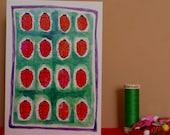 Sixteen Ladybirds, Hand Illustrated Greetings Card, ladybirds card, bugs card, illustrated ladybirds card, blank card, 16th birthday card