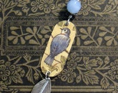 Blue Bird Recycled Vintage Tin Necklace ** FREE SHIPPING**