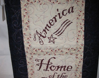 America Home of the Brave Patriotic Wall Hanging Gift Unique