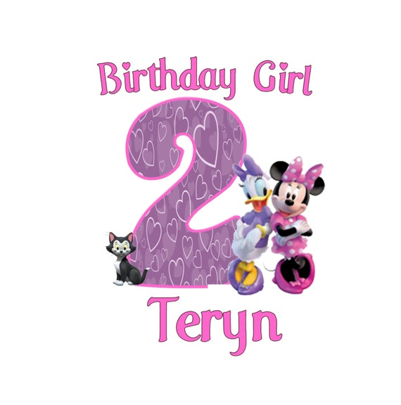 Minnie Mouse and Daisy Duck Birthday Shirt Girl by ...