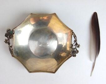 Vintage Brass Silver Bowl - Home Decor