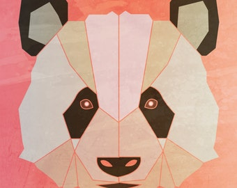 PANDA   Limited Edition Print  A3 (11.7 X 16.5)  with border