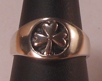 Sterling Silver Three Leaf Clover Ring