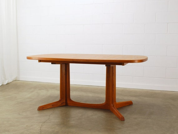 SALE Vintage Danish Modern Teak Dining Table Niels O Moller