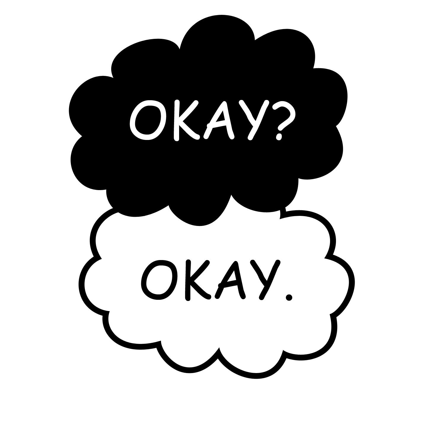 T.F.I.O.S. Okay Okay. Clouds or CUSTOM Text Decal Sticker