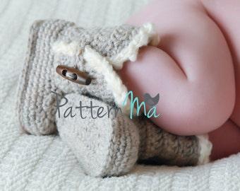 Crochet Baby Booties Pattern #3