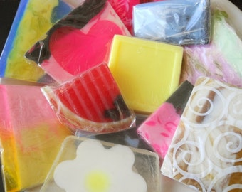 Variety Pack Soap Sampler Set, Soap Samples, Homemade Soap, Glycerin Soap, Travel Soap, Mini Soaps