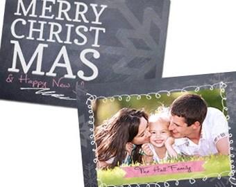 "Oh So Merry Photo Christmas Card -  5"" X 7"" Digital File"
