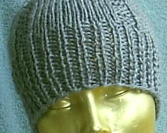 Grey Ribbed Sailor's cap