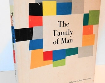 "Vintage First Print 1955 ""The Family of Man"" Hardcover Photography Book By Edward Steichen with Jacket"