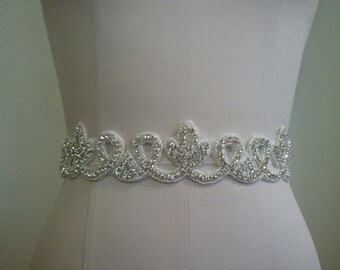 SALE - Wedding Belt, Bridal Belt, Sash Belt, Crystal Rhinestone Sash - Style B70017