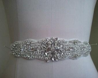 SALE - Wedding Belt, Bridal Belt, Sash Belt, Crystal Rhinestone  - Style B800114