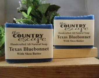 Texas Bluebonnet Bath Soap -Gentle & Moisturizing - Great Lather - Handcrafted - Organic - Vegan - Natural Soap - Paraben Free