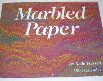 Marbled Paper Calendar 1994 by Nelle Tresselt